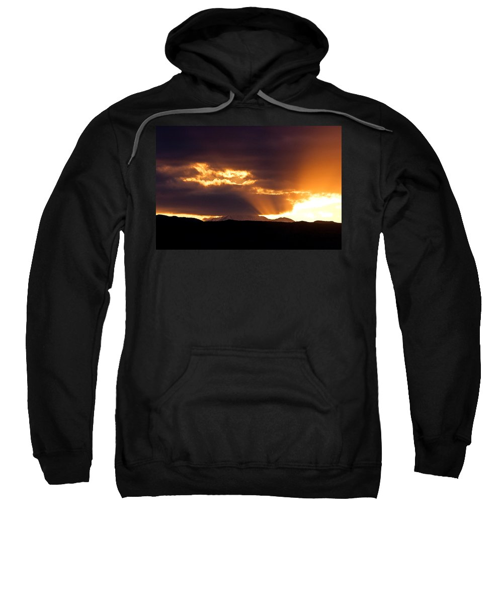 Sunset Sweatshirt featuring the photograph Sunset Sunbeams by James BO Insogna