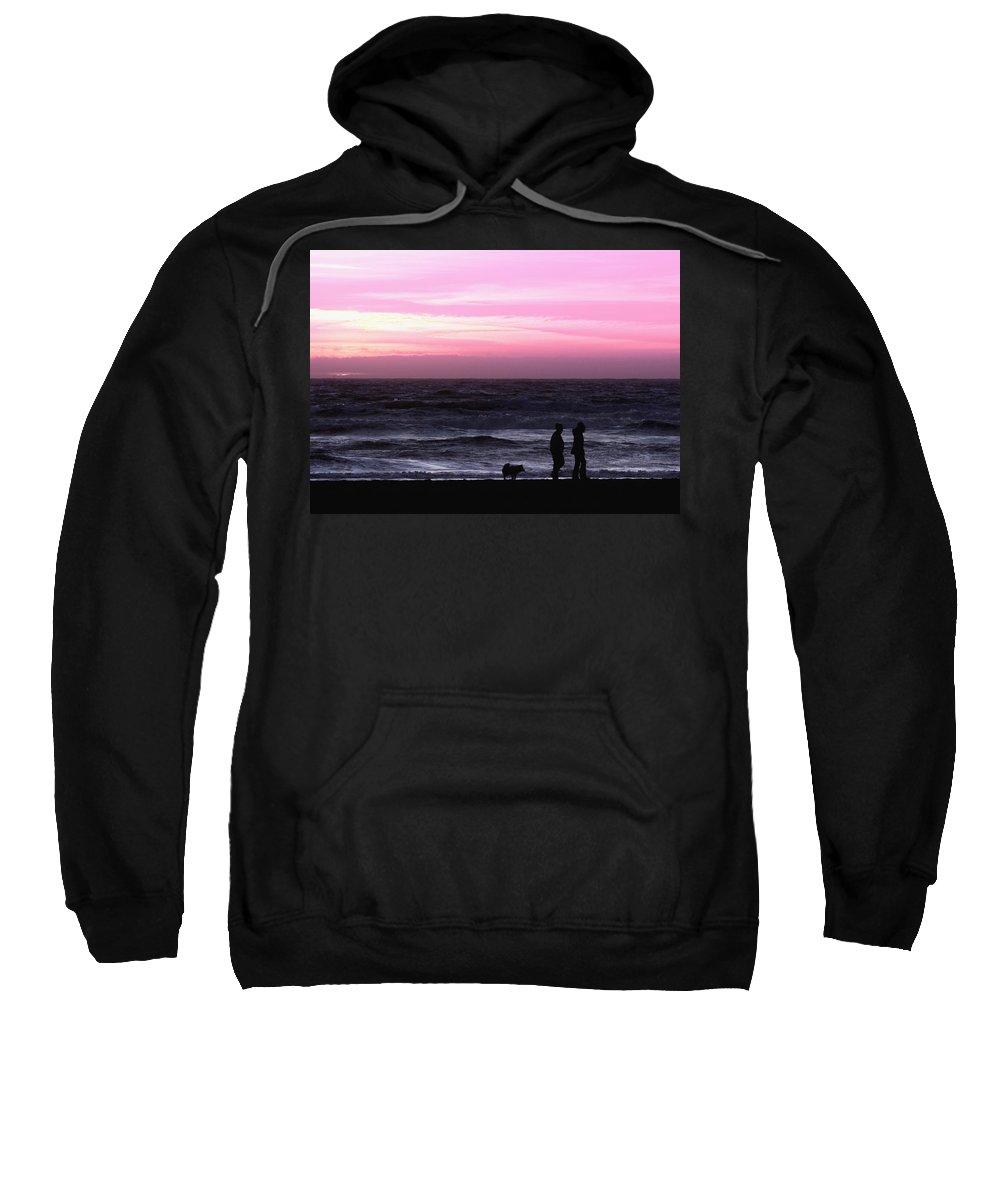 Nature Sweatshirt featuring the photograph Sunset Walk by John K Sampson