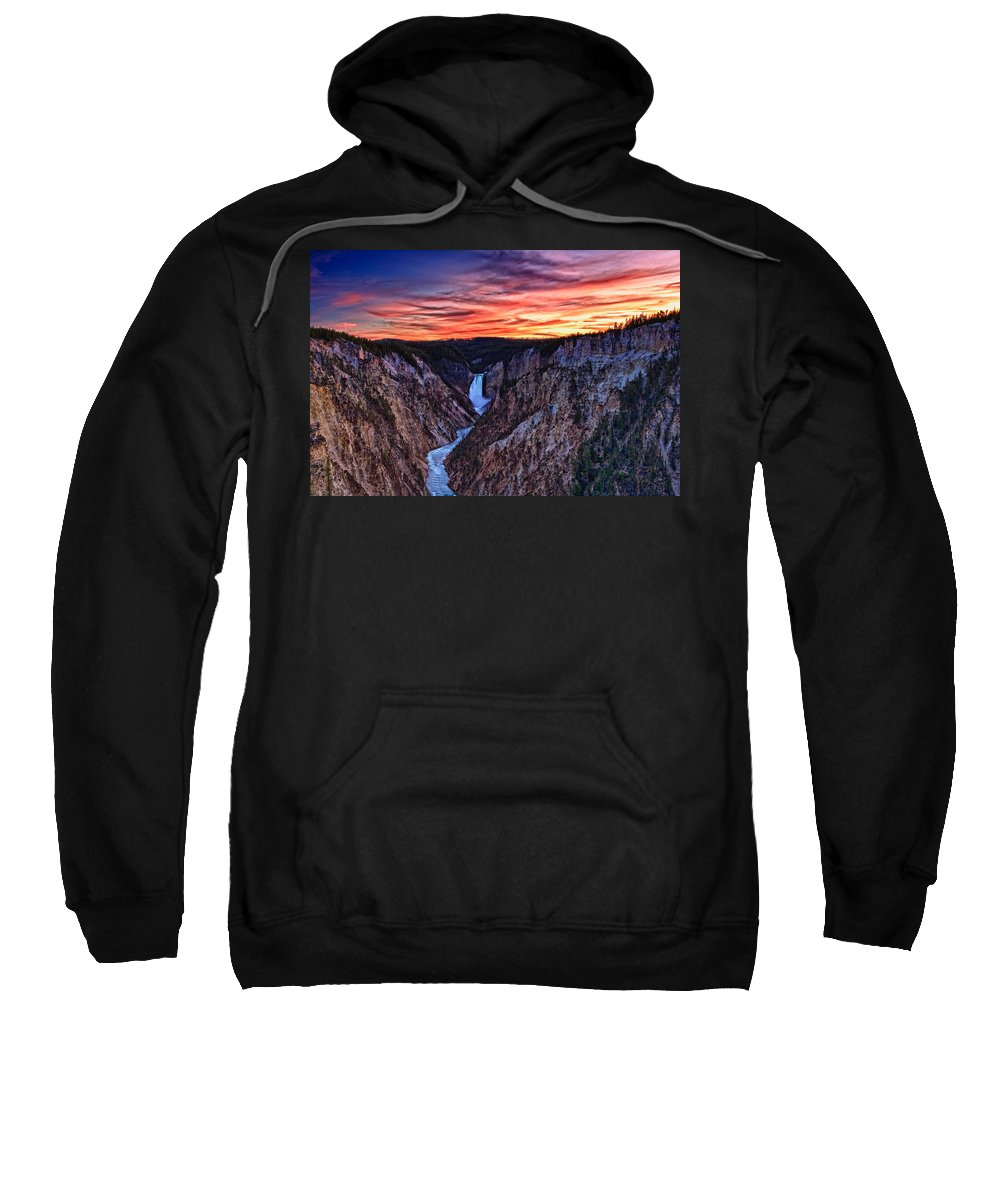 Nature Sweatshirt featuring the photograph Sunset Waterfall by John K Sampson
