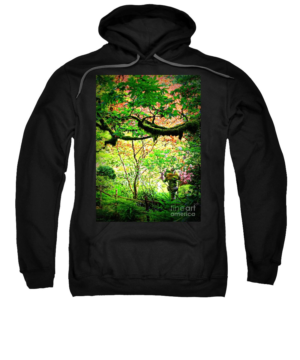 Sunny Garden Sweatshirt featuring the photograph Sunshine In The Garden by Carol Groenen