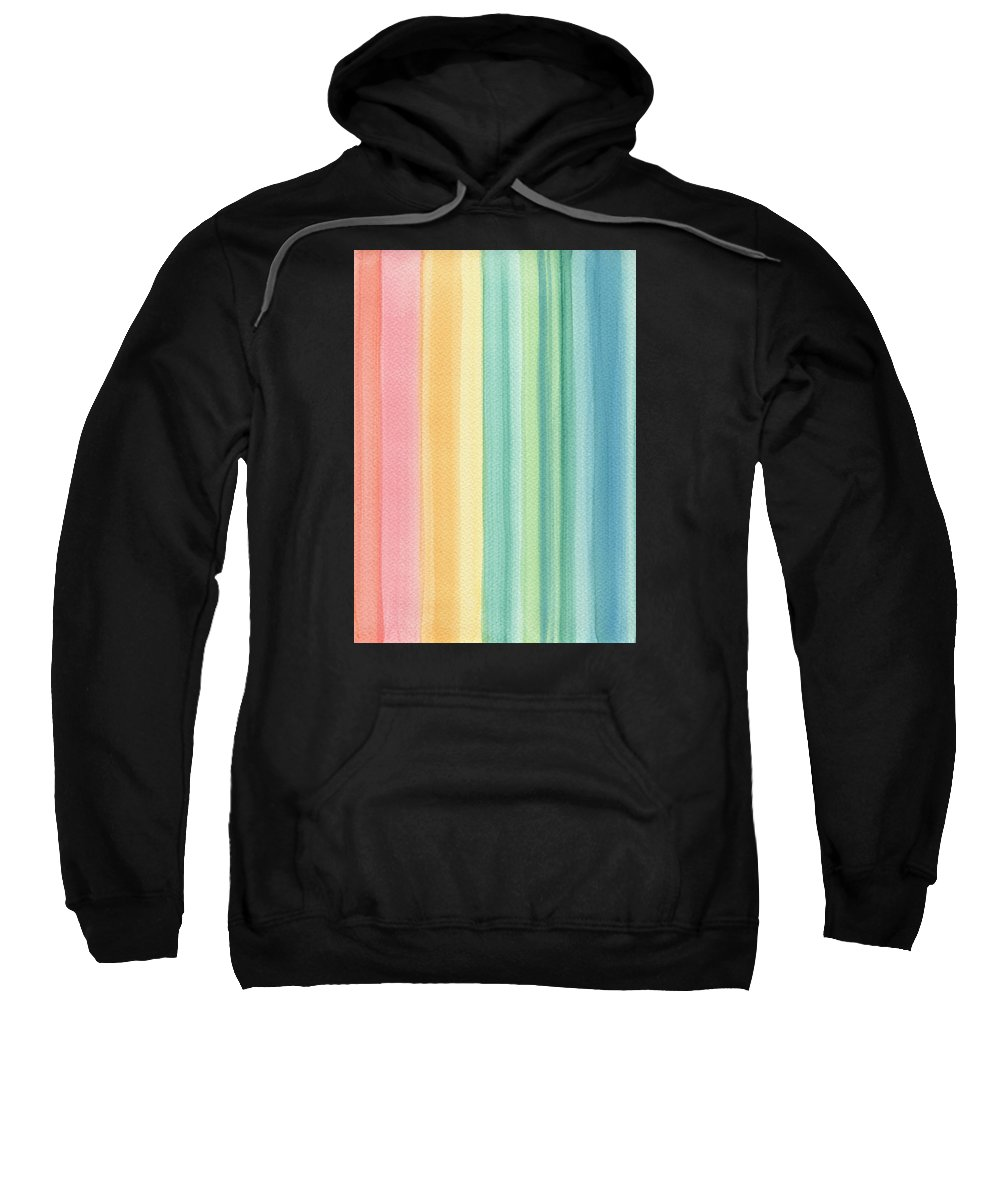 Abstract Sweatshirt featuring the painting Sunshine by Kathleen Wong