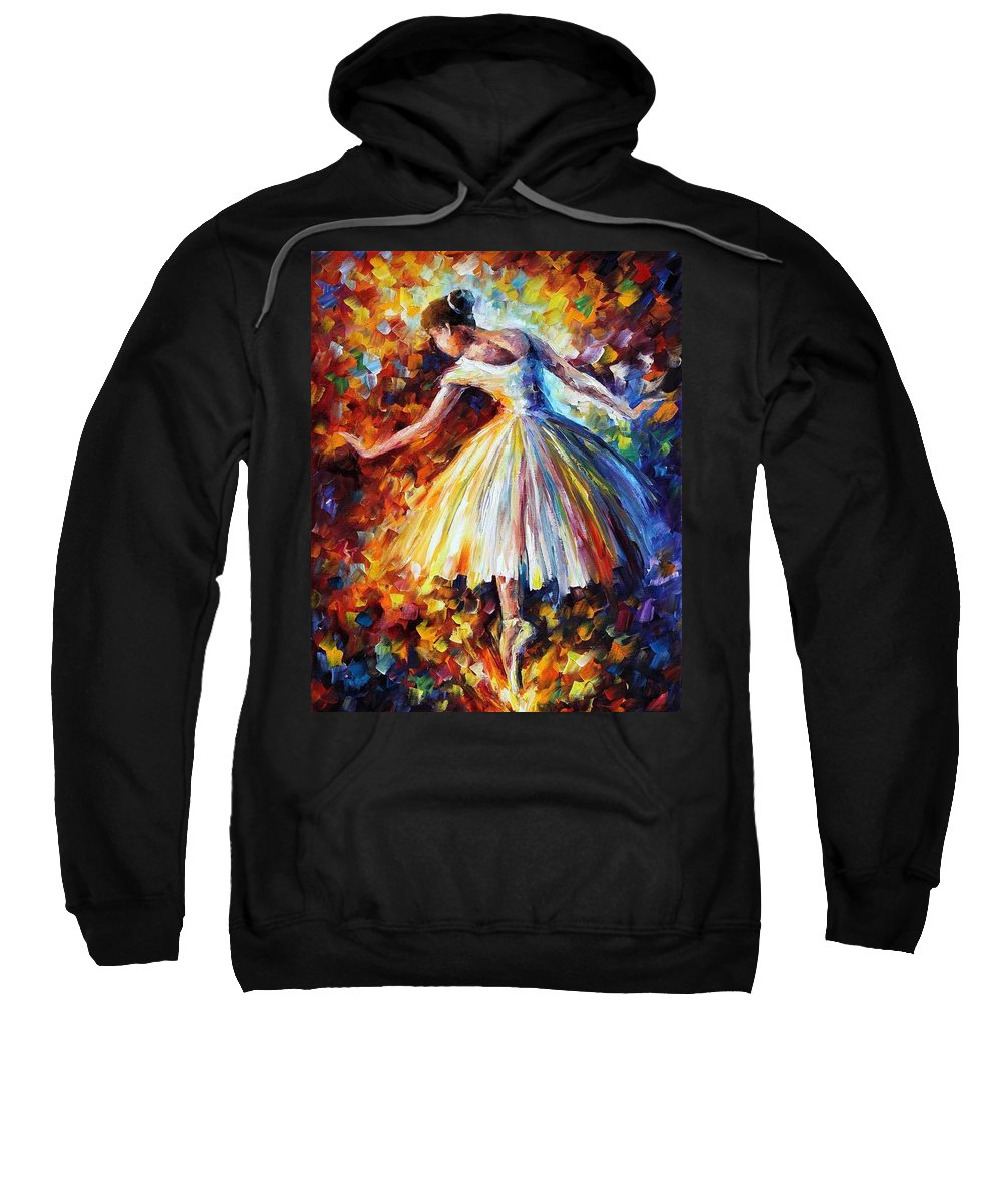 Afremov Sweatshirt featuring the painting Surrounded By Music by Leonid Afremov