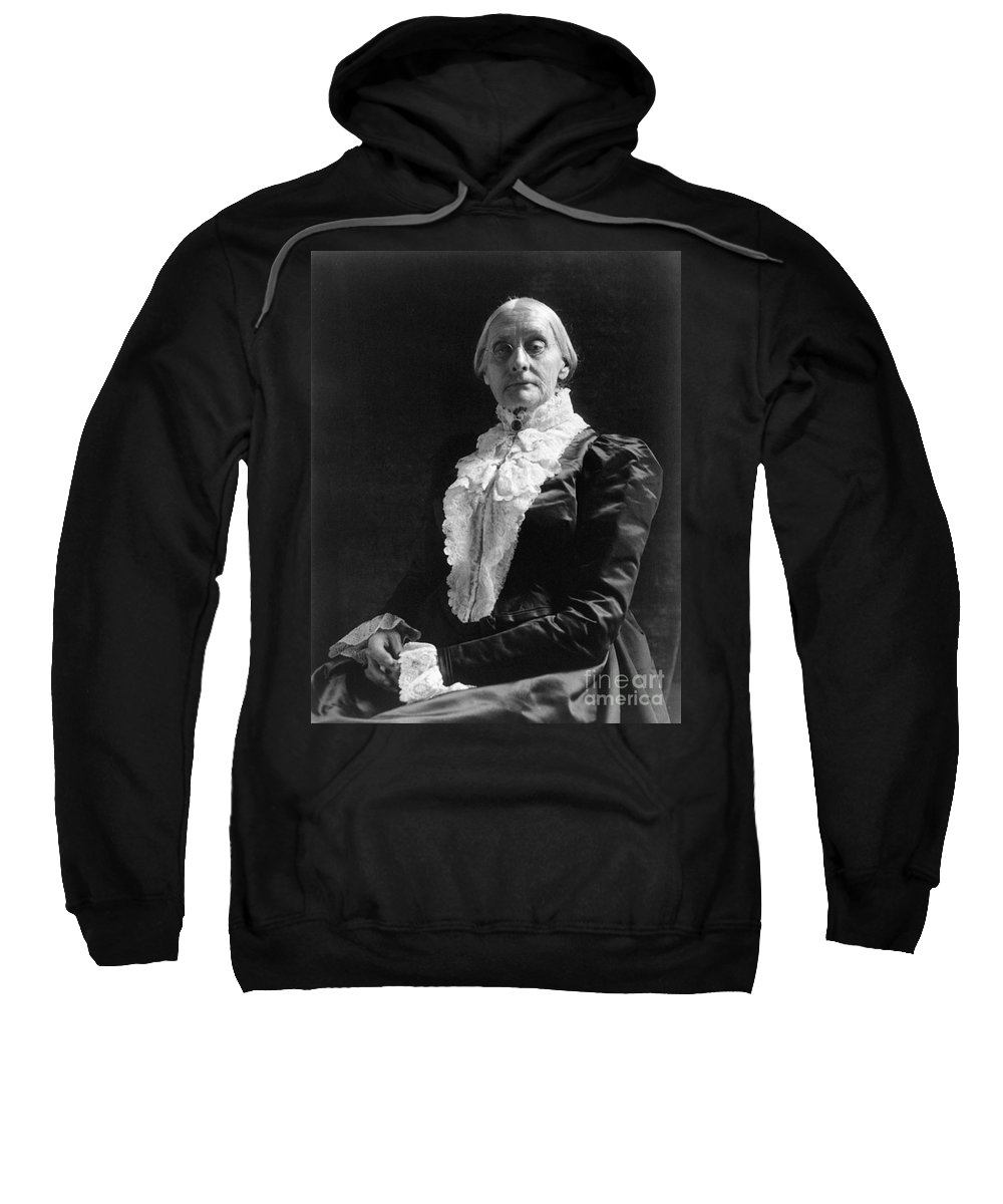 1890 Sweatshirt featuring the photograph Susan B. Anthony (1820-1906) by Granger