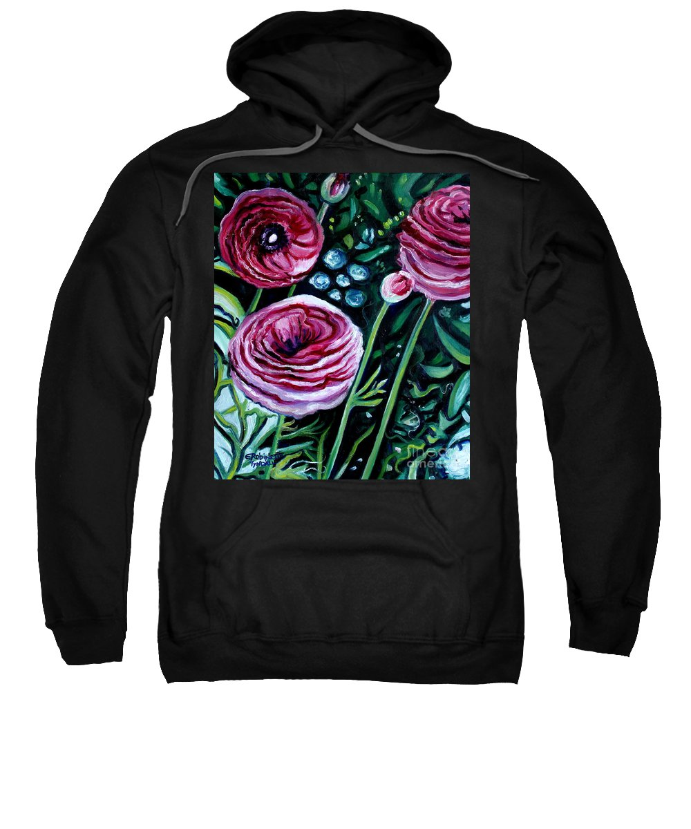 Garden Sweatshirt featuring the painting Sweet Delight by Elizabeth Robinette Tyndall