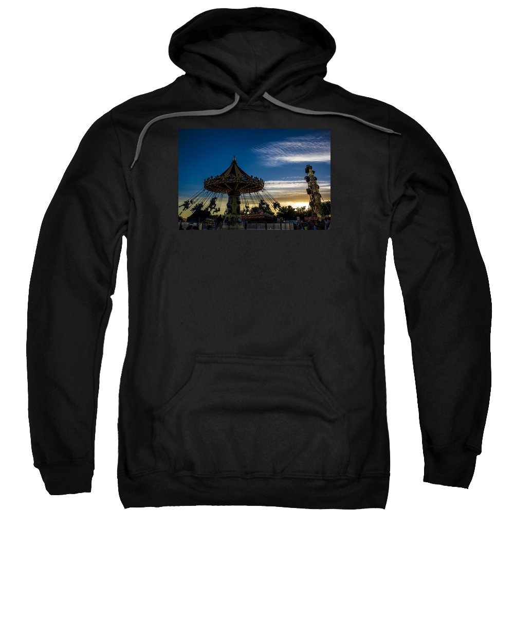 Sweatshirt featuring the photograph Swingin Sunset by Reed Tim