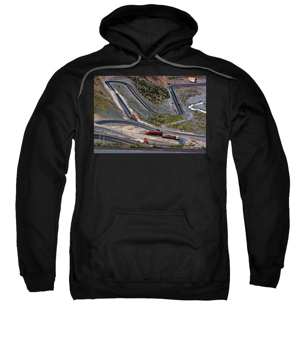 Chile Sweatshirt featuring the photograph Switchbacks by Roberta Bragan