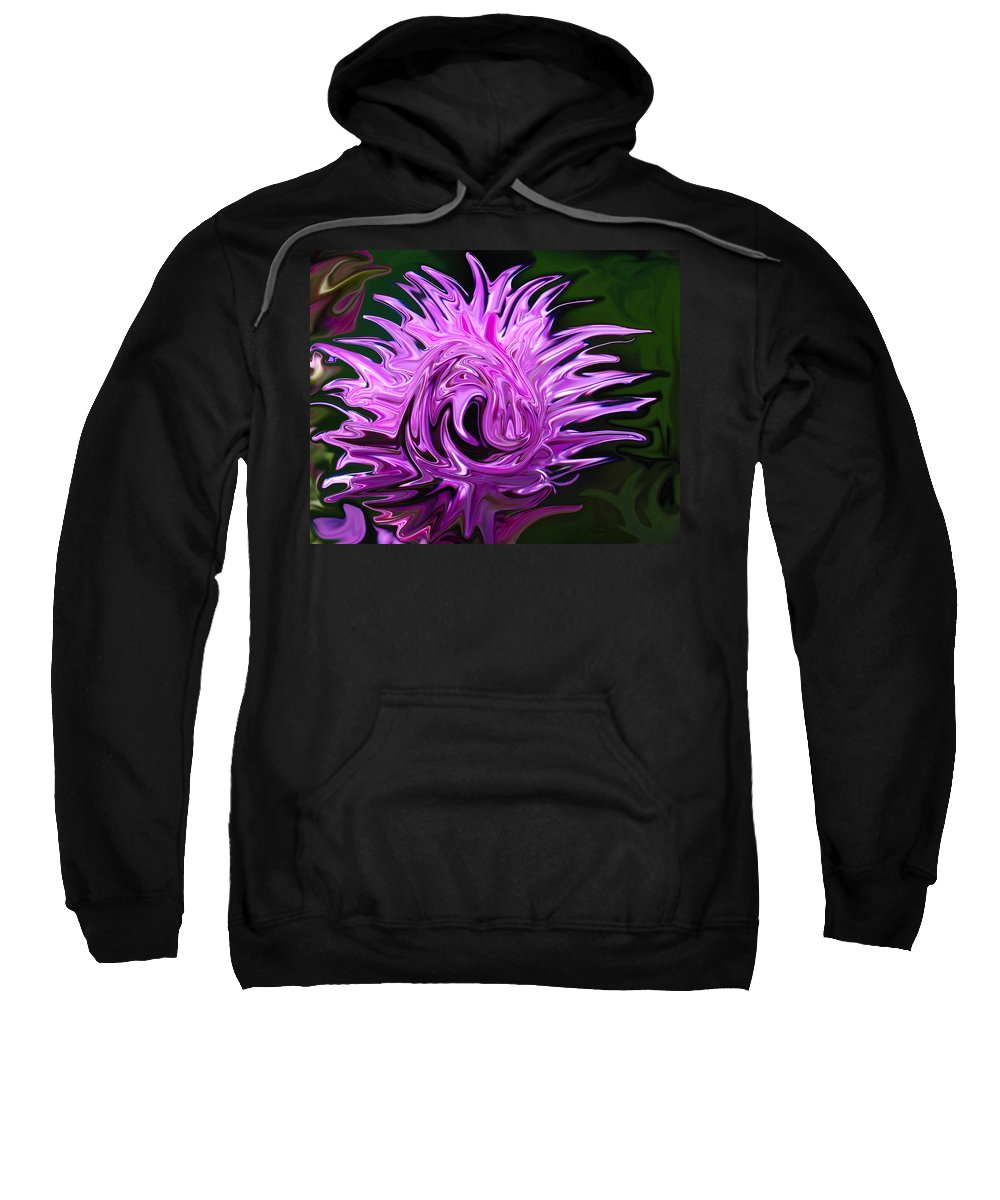 Earth's Flowers Sweatshirt featuring the photograph Swooned by Carol Eliassen