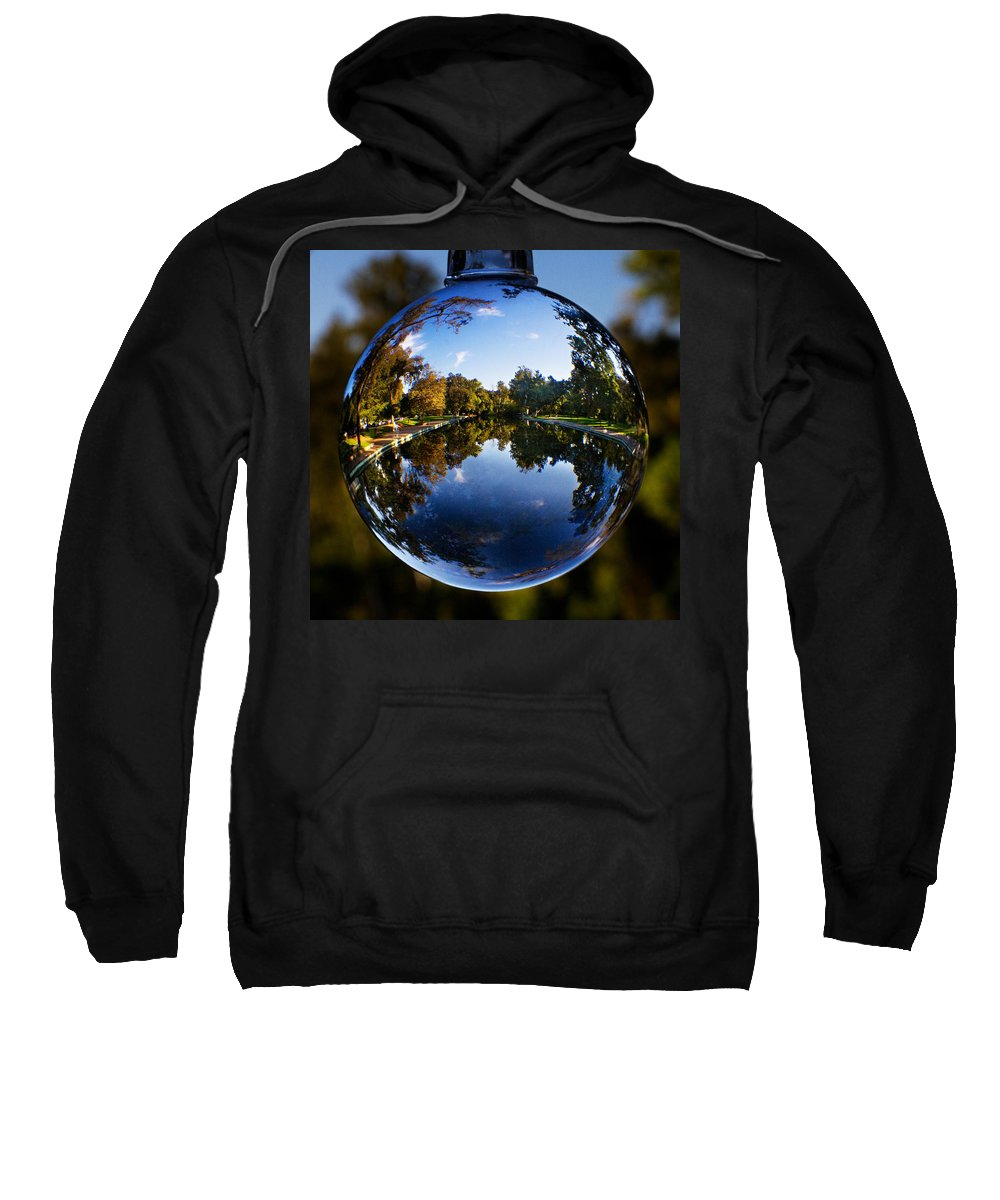 Pool Sweatshirt featuring the photograph Sycamore Pool Through A Glass Eye by Robert Woodward