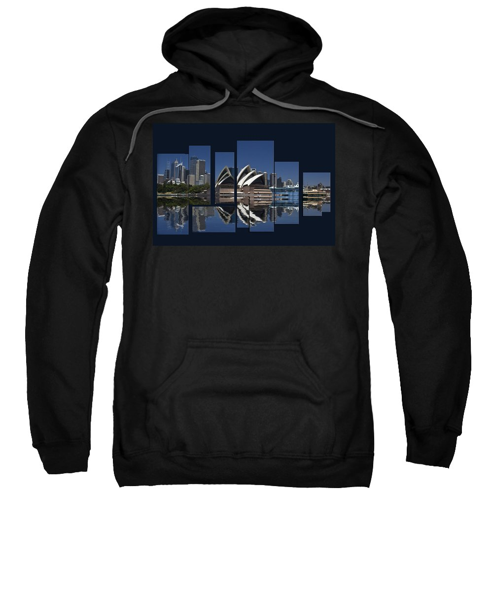 Sydney Harbour Sweatshirt featuring the photograph Sydney Harbour Collage by Sheila Smart Fine Art Photography