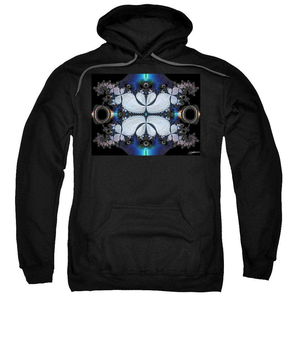 Abstract Sweatshirt featuring the digital art Symmetry In Circuitry by Casey Kotas