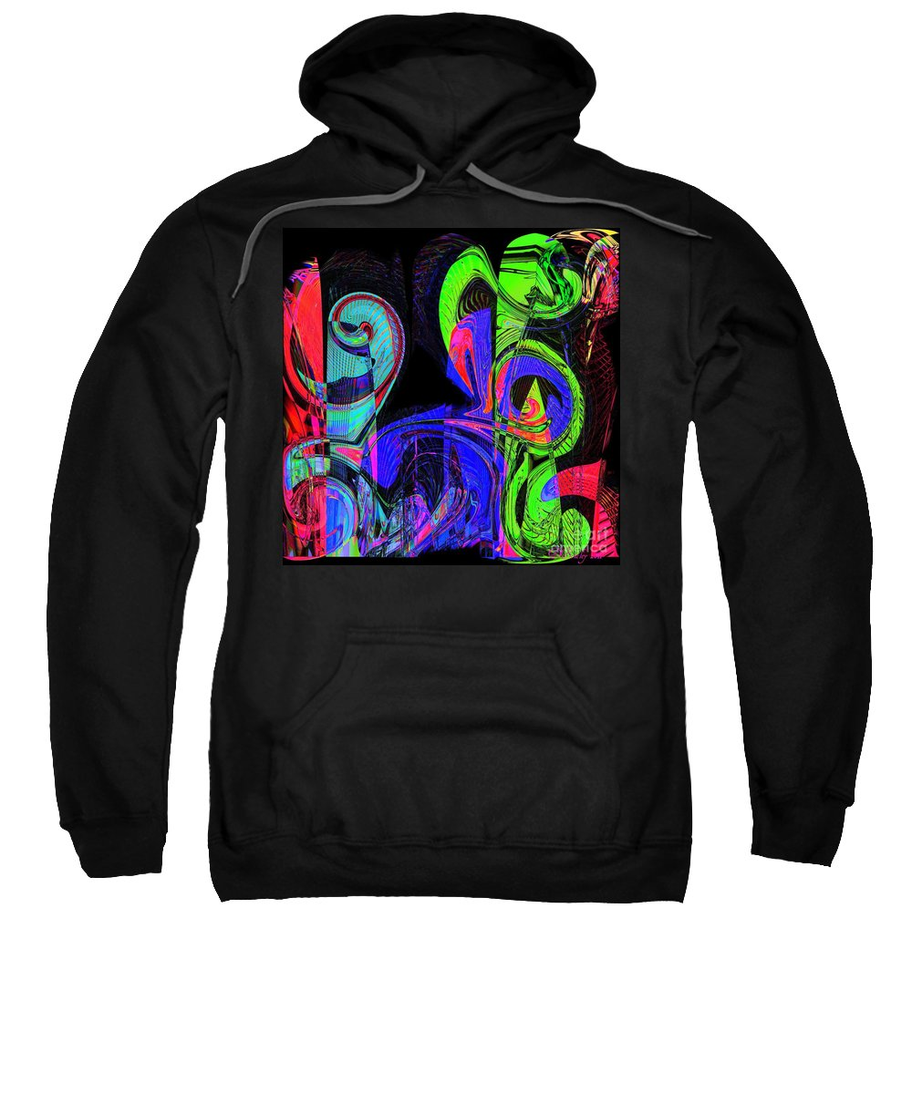Abstract Sweatshirt featuring the digital art Symphony by Donna Bentley