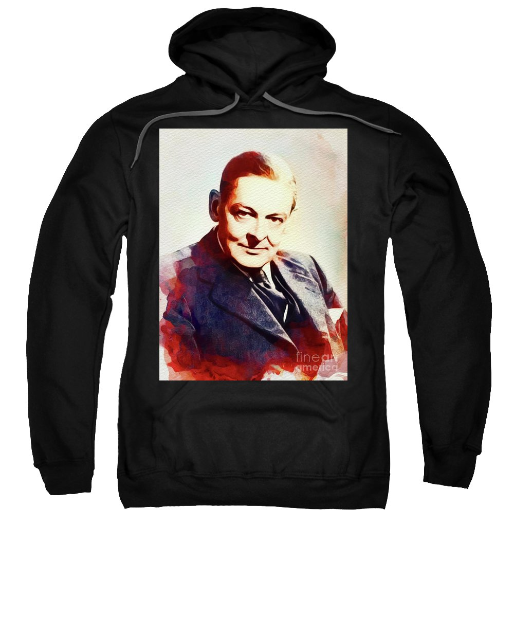 T. S. Sweatshirt featuring the painting T. S. Eliot, Literary Legend by John Springfield