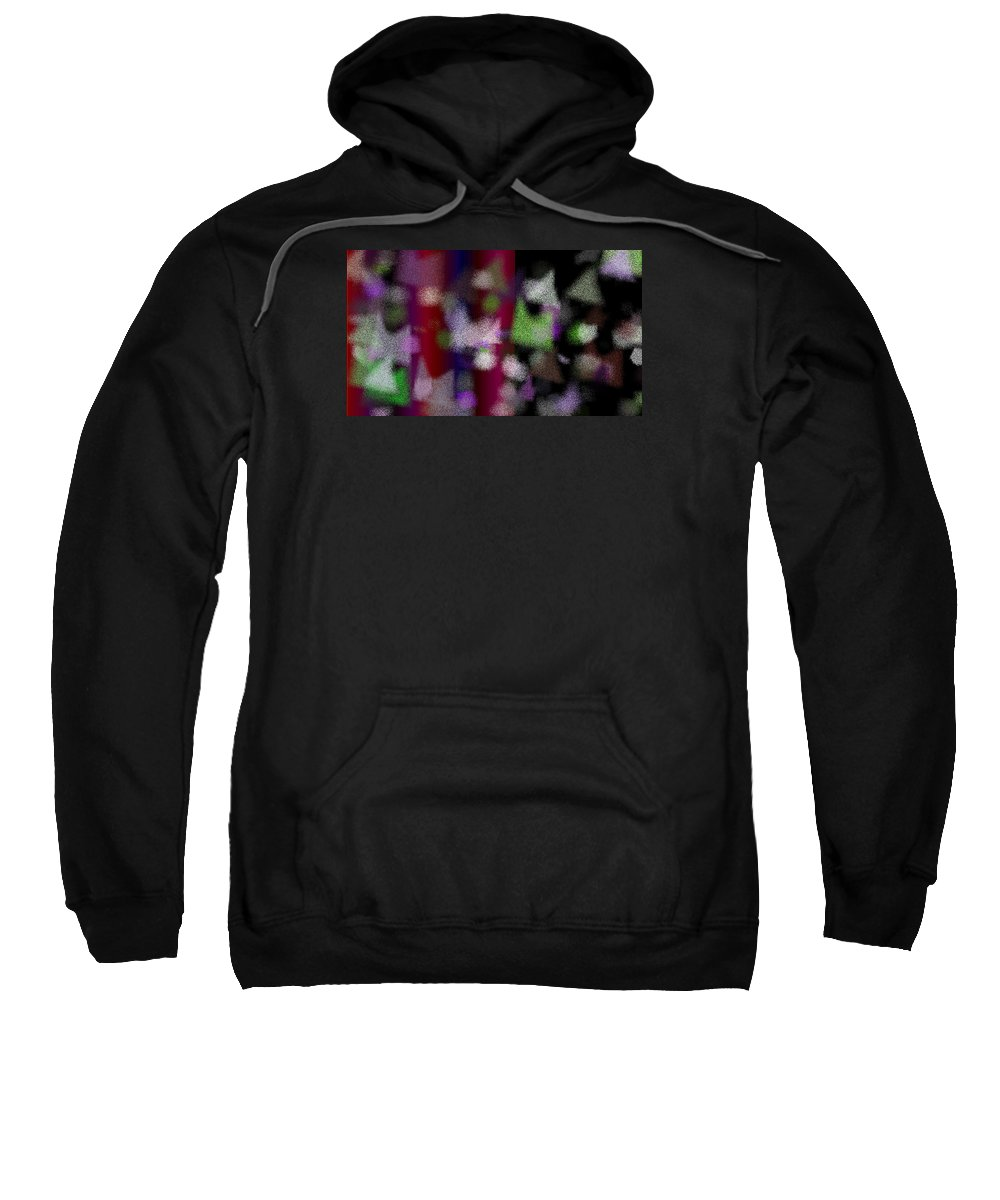Abstract Sweatshirt featuring the digital art T.1.1520.95.16x9.9102x5120 by Gareth Lewis
