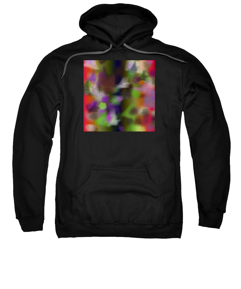 Abstract Sweatshirt featuring the digital art T.1.1537.97.1x1.5120x5120 by Gareth Lewis