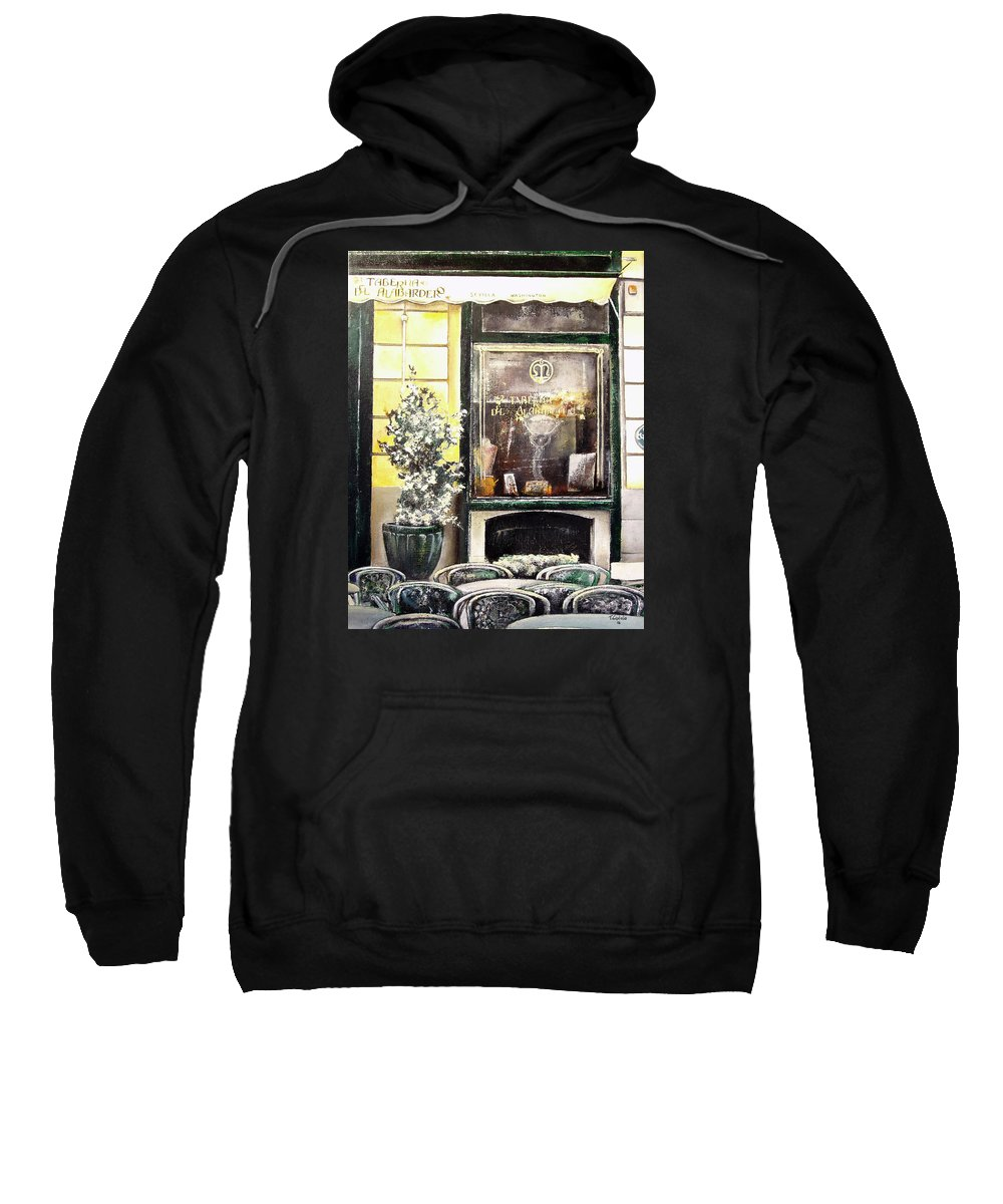Old Sweatshirt featuring the painting Taberna Del Alabardero-madrid by Tomas Castano