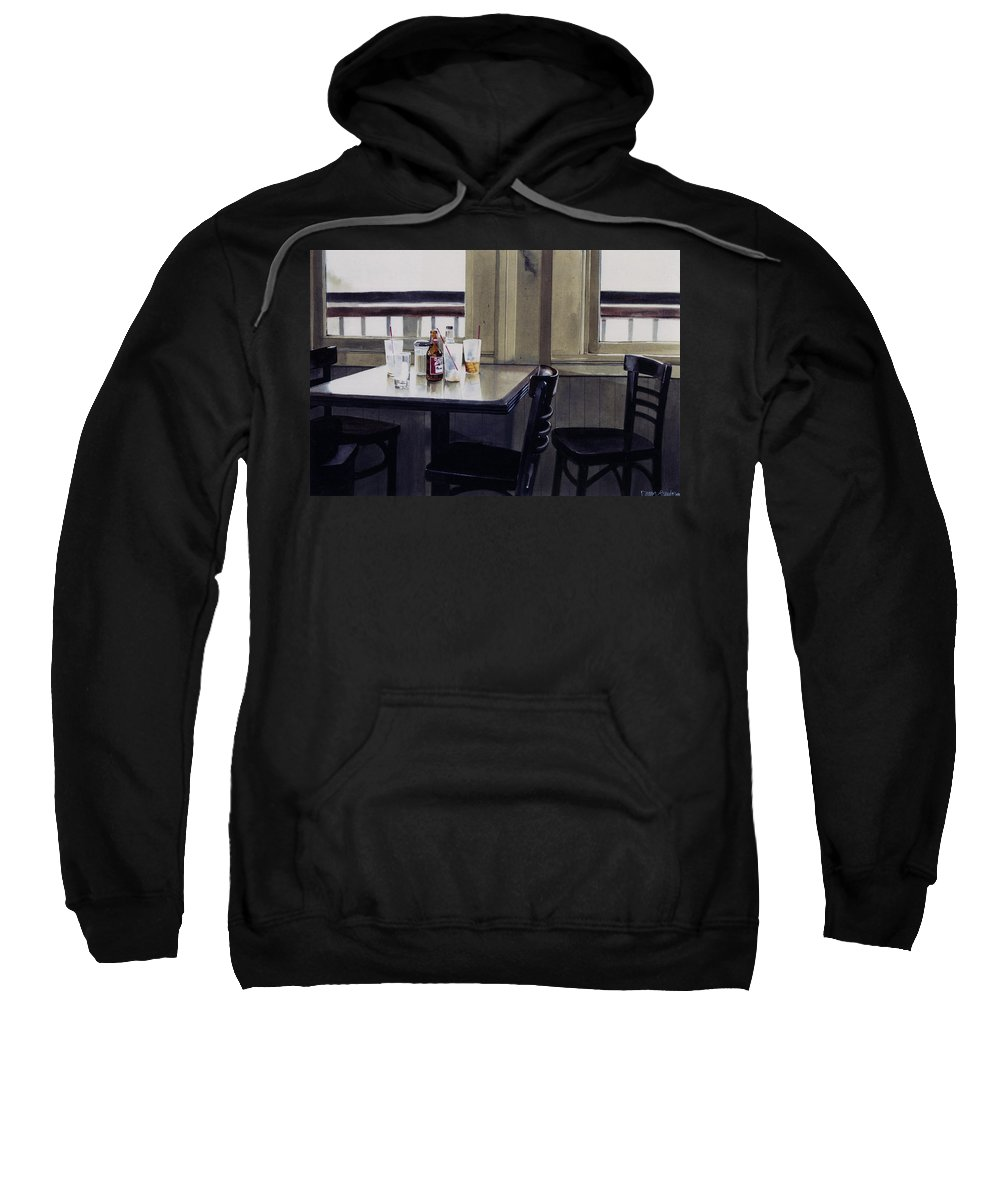 Beer Sweatshirt featuring the painting Table Setting by Denny Bond