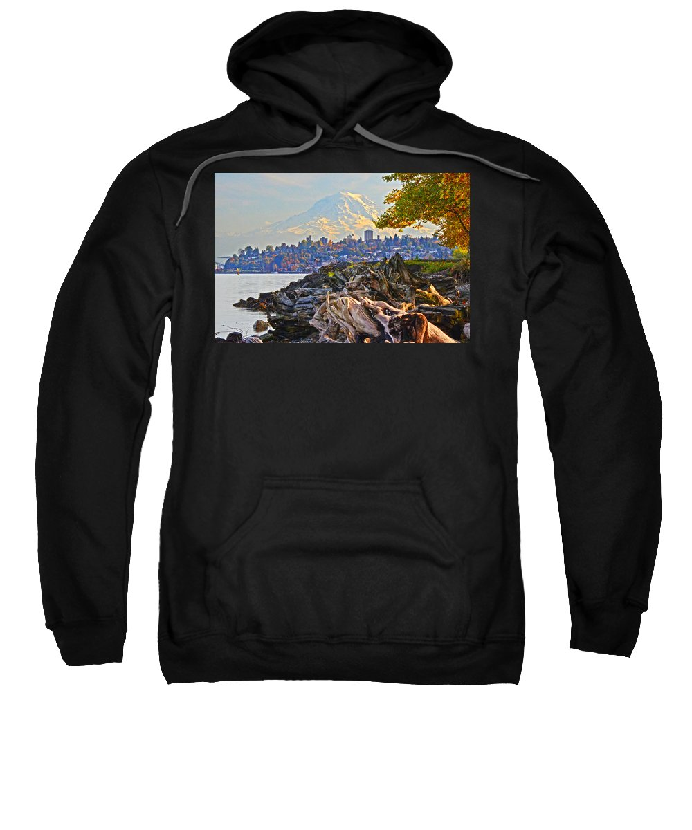 Tacoma Sweatshirt featuring the photograph Tacoma In The Fall by Jack Moskovita