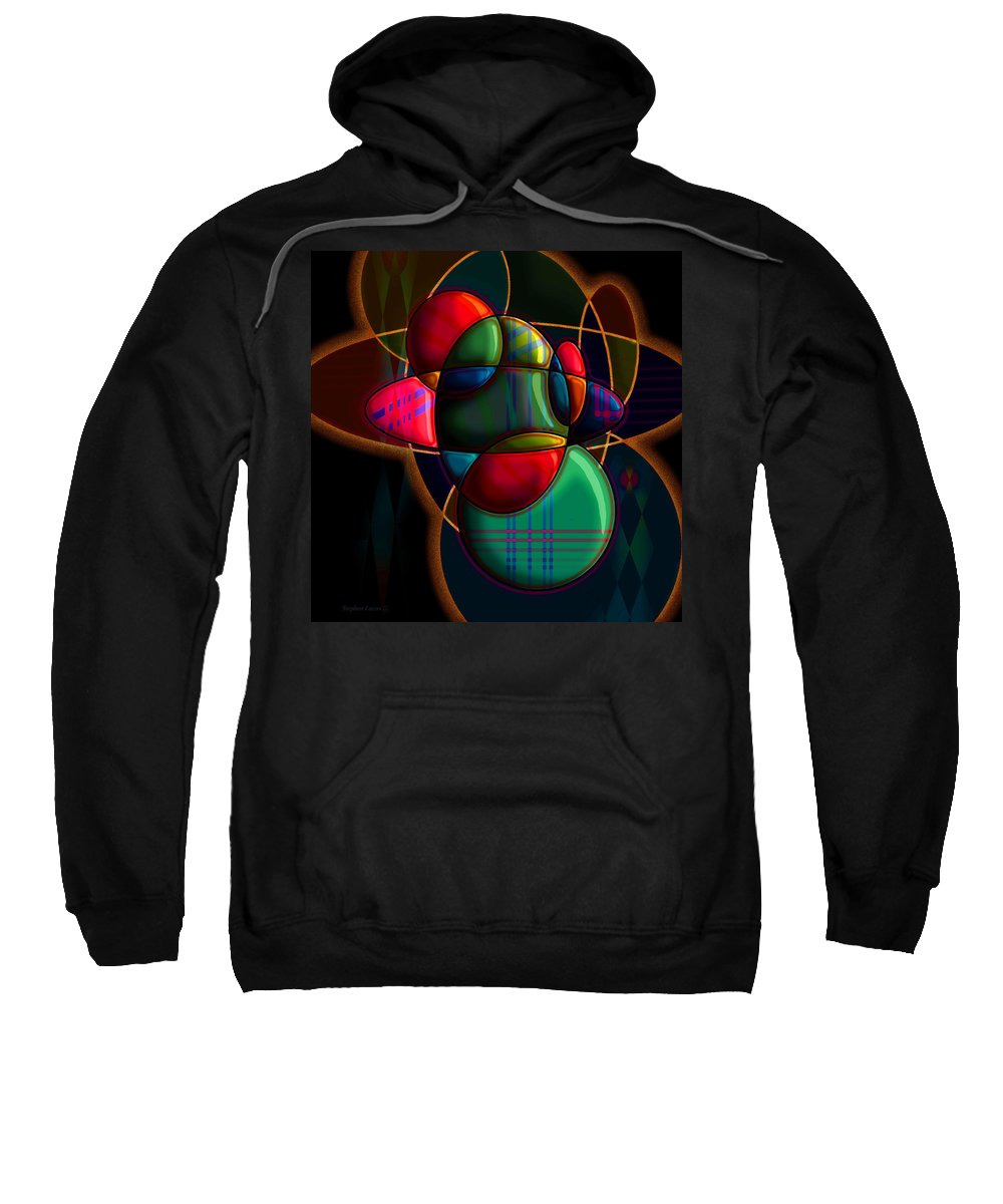 Modern Sweatshirt featuring the digital art Tactile Space I by Stephen Lucas