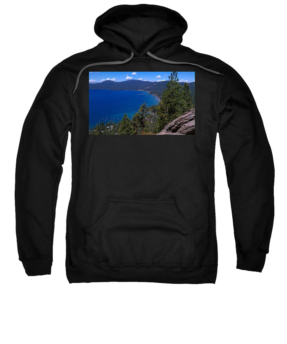 Landscape Sweatshirt featuring the photograph Tahoe Rim Trail by Dennis Boyd