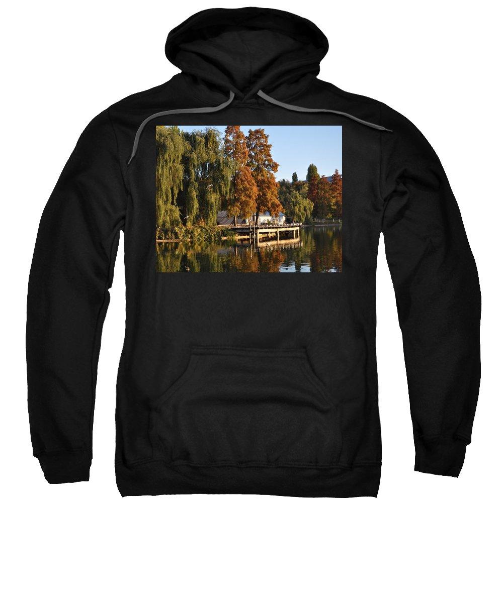 Autumn On The Lake Sweatshirt featuring the photograph Taking A Nap by Georgeta Blanaru