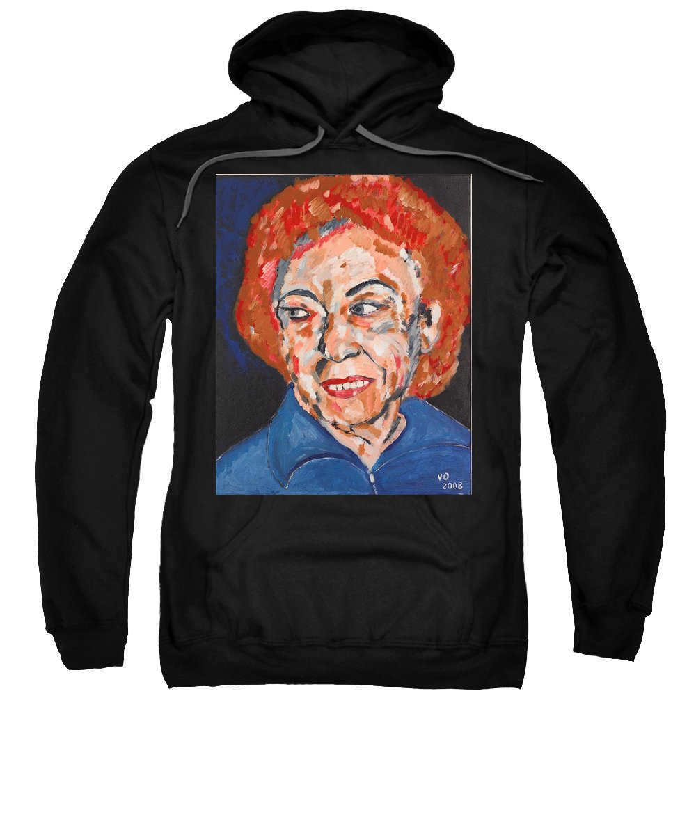 Portrait Sweatshirt featuring the painting Tamara by Valerie Ornstein