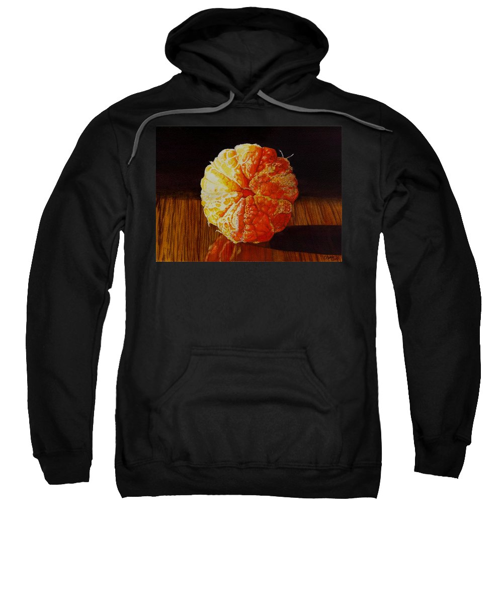 Still Life Sweatshirt featuring the painting Tangerine by Catherine G McElroy