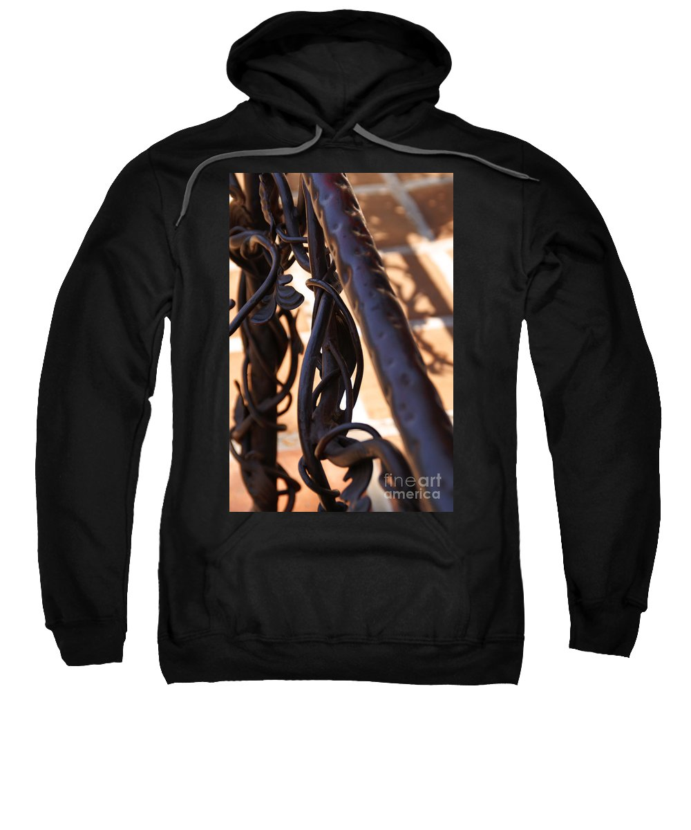 Rail Sweatshirt featuring the photograph Tangled Vines by Linda Shafer