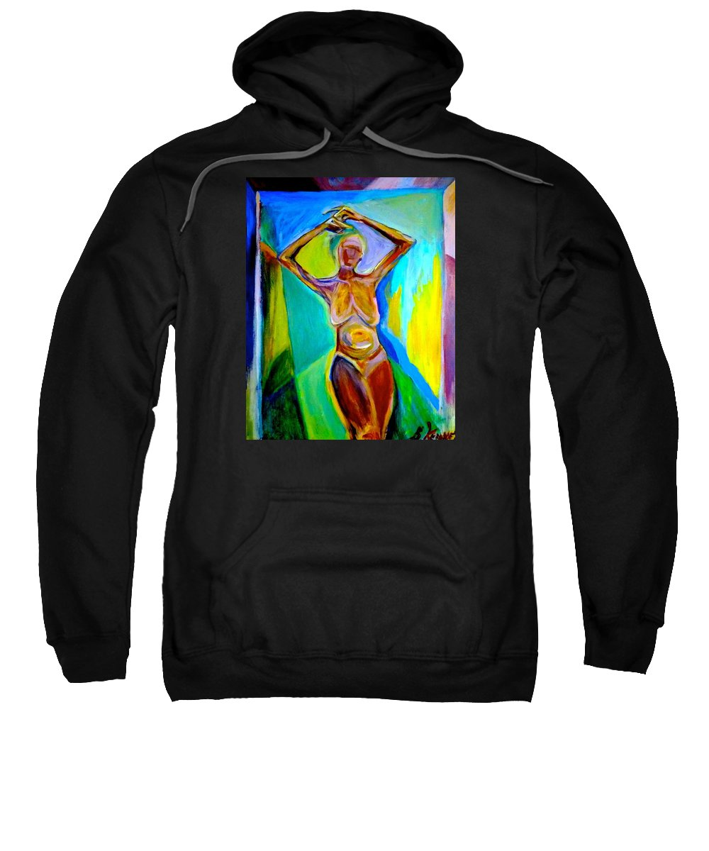 Modern Sweatshirt featuring the painting Tango For One by Shawn Kenney