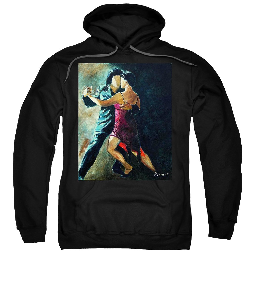 Tango Sweatshirt featuring the painting Tango by Pol Ledent
