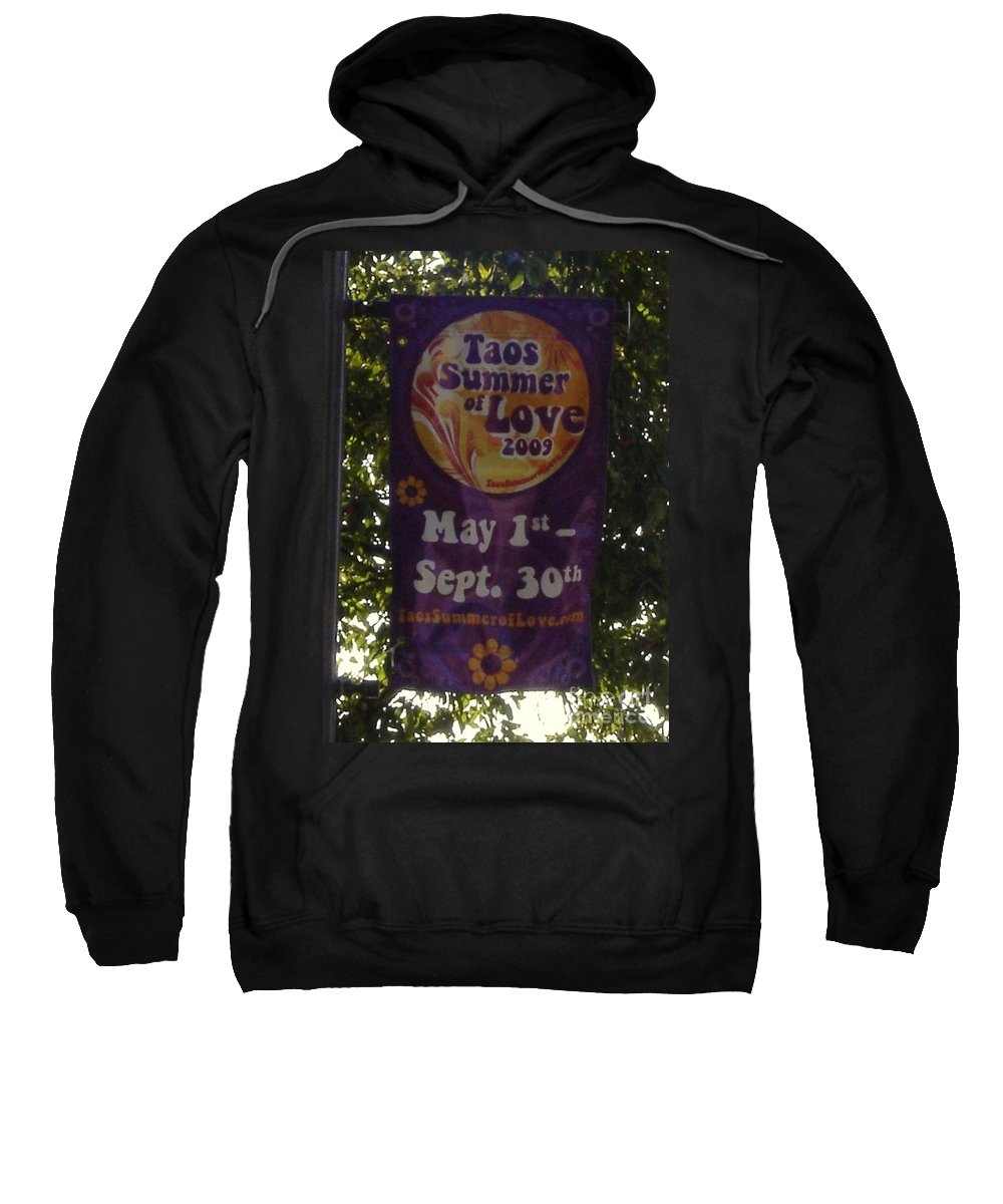 Sign Sweatshirt featuring the photograph Taos Love by Mary Rogers