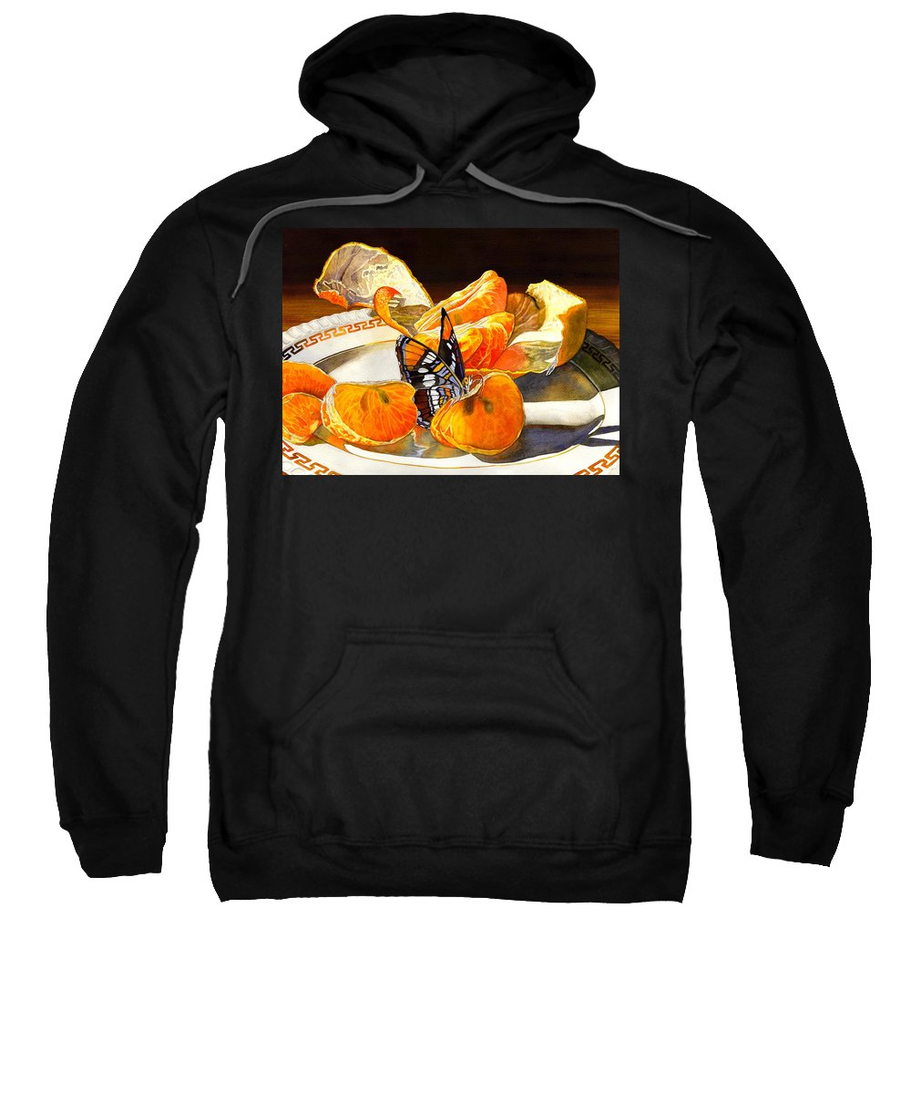 Butterfly Sweatshirt featuring the painting Tasty by Catherine G McElroy