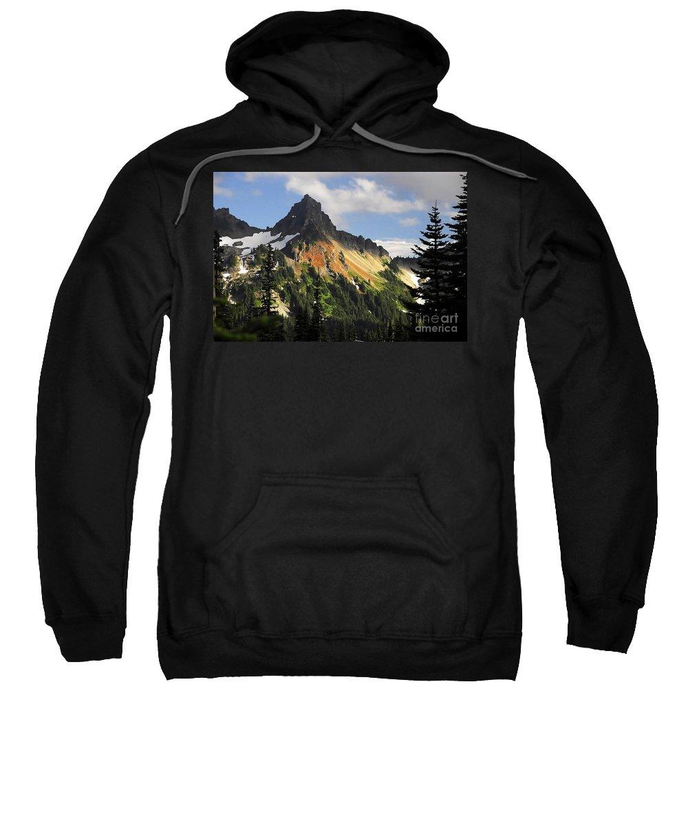 Mountains Sweatshirt featuring the photograph Tatosh Range by David Lee Thompson