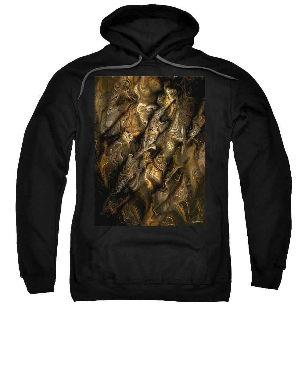Abstract Sweatshirt featuring the digital art Tautological Puzzlement by Casey Kotas