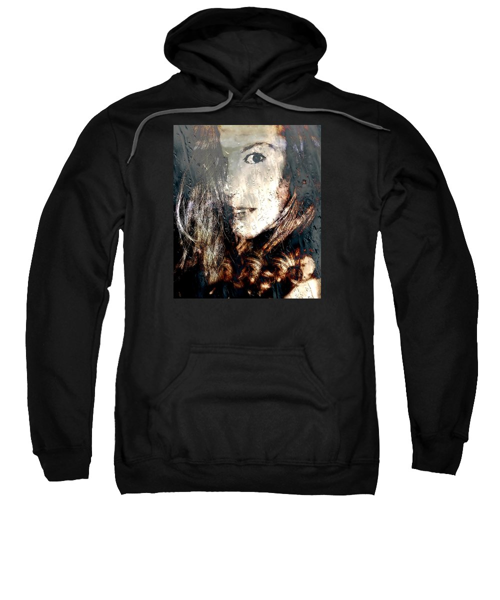 Woman Sweatshirt featuring the photograph Tears In The Rain Iv by Louisa Catharine