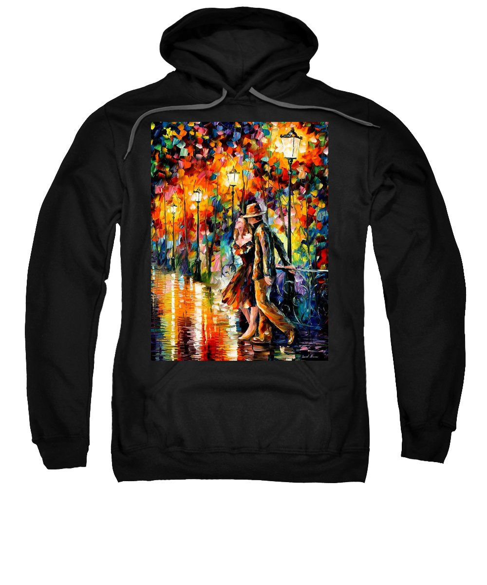 Scenery Sweatshirt featuring the painting Tempter by Leonid Afremov