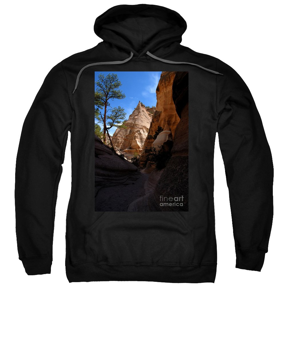 Tent Rocks Wilderness New Mexico Sweatshirt featuring the photograph Tent Rocks Canyon by David Lee Thompson