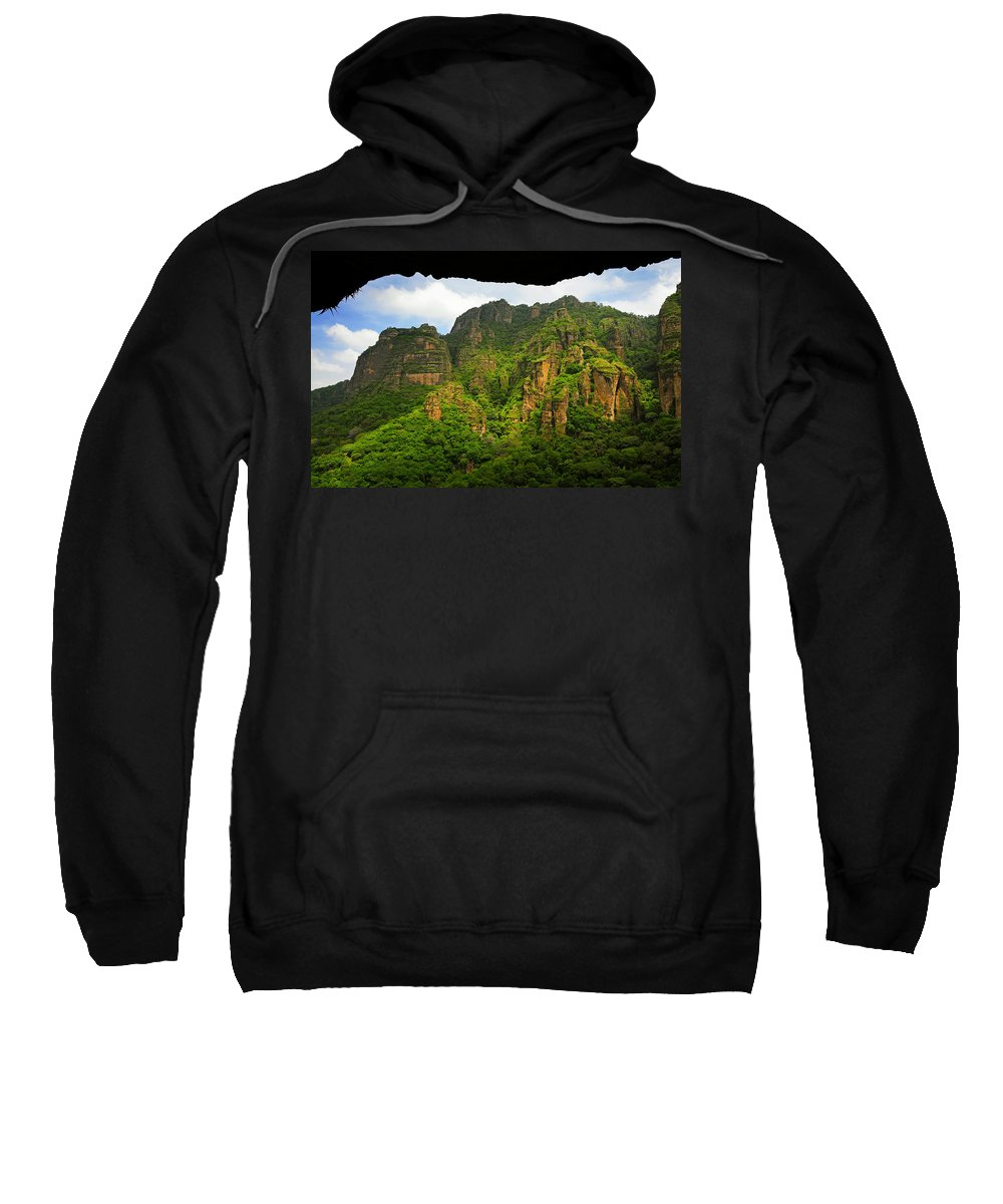 Skip Hunt Sweatshirt featuring the photograph Tepozteco by Skip Hunt