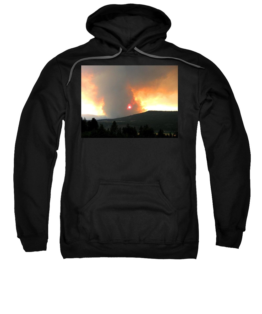 Forest Fire Sweatshirt featuring the photograph Terrace Mountain Fire 3 by Will Borden