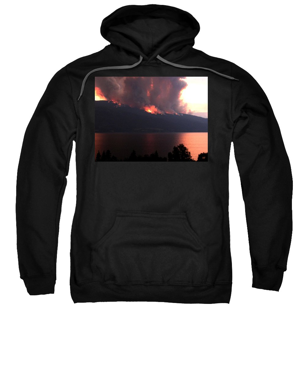 Forest Fire Sweatshirt featuring the photograph Terrace Mountain Fire 5 by Will Borden