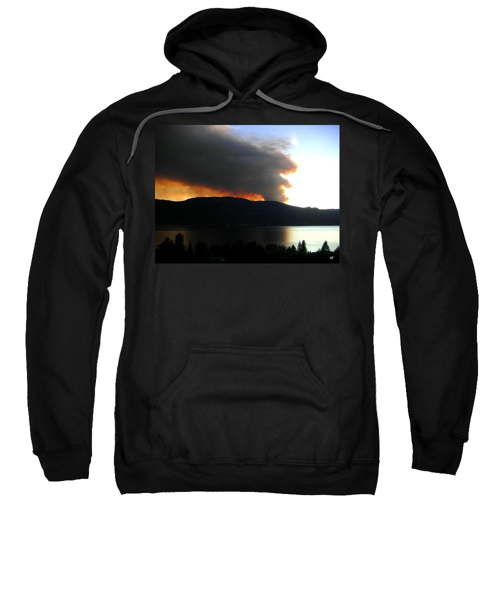 Forest Fire Sweatshirt featuring the photograph Terrace Mountain Fire by Will Borden
