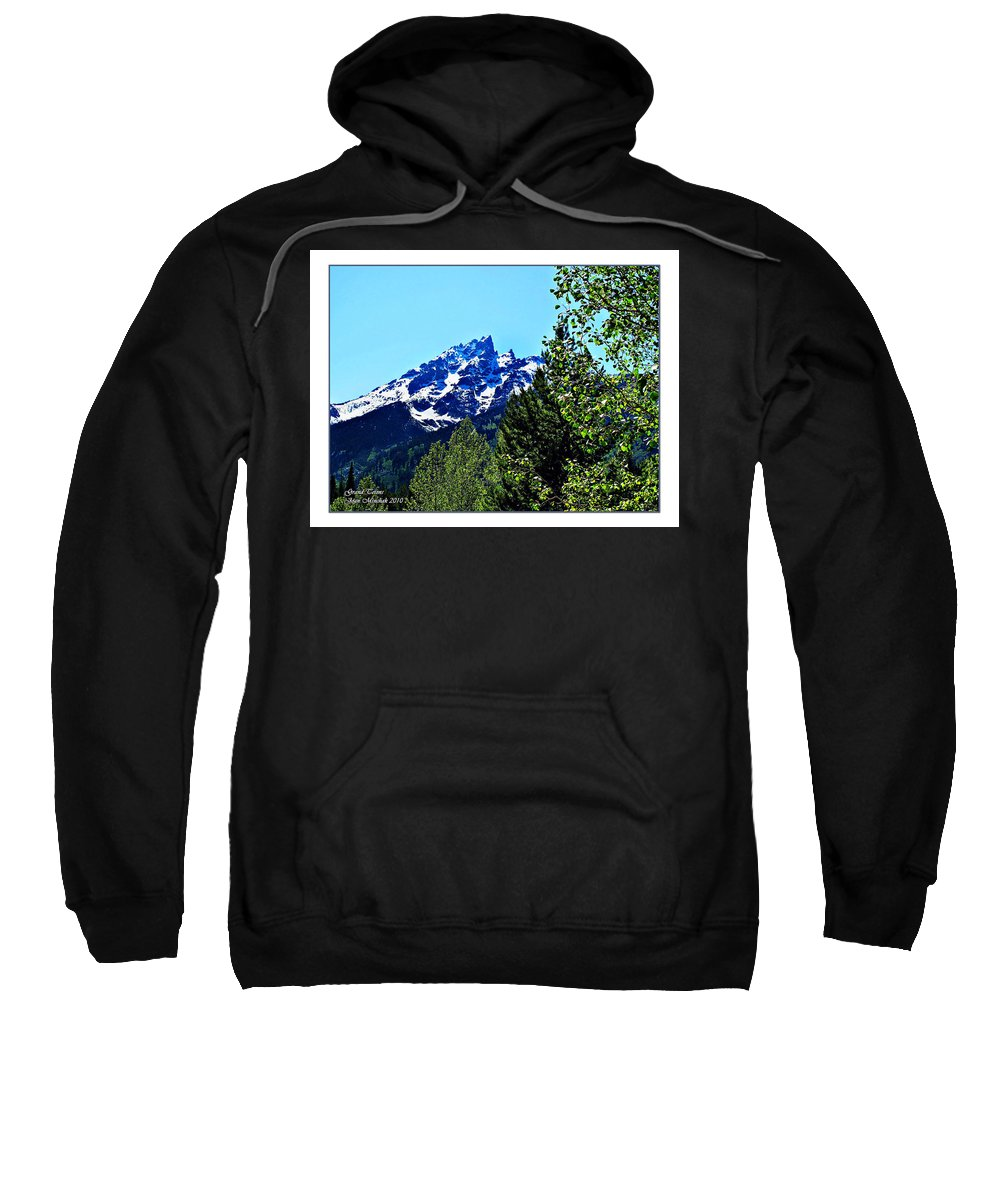 Blue Sweatshirt featuring the photograph Teton Picture Perfect by Joan Minchak