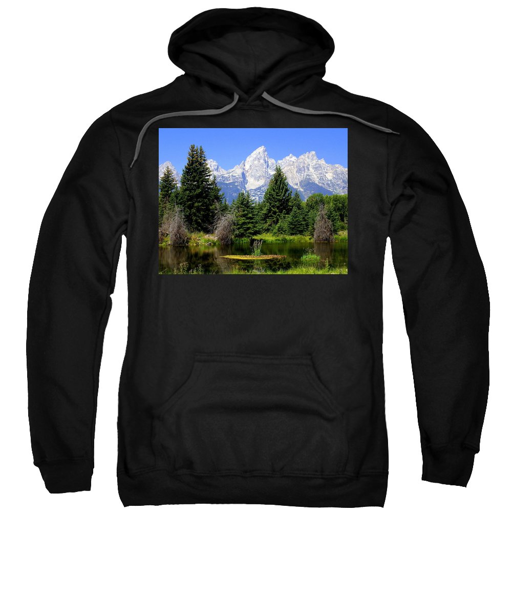 Grand Teton National Park Sweatshirt featuring the photograph Tetons by Marty Koch