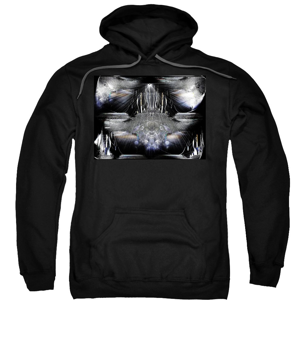 Greek Sweatshirt featuring the digital art Thanatos by Michael Damiani