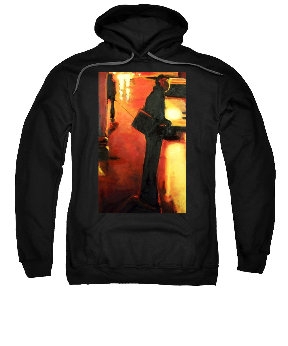 Rob Sweatshirt featuring the painting That First Step by Robert Reeves