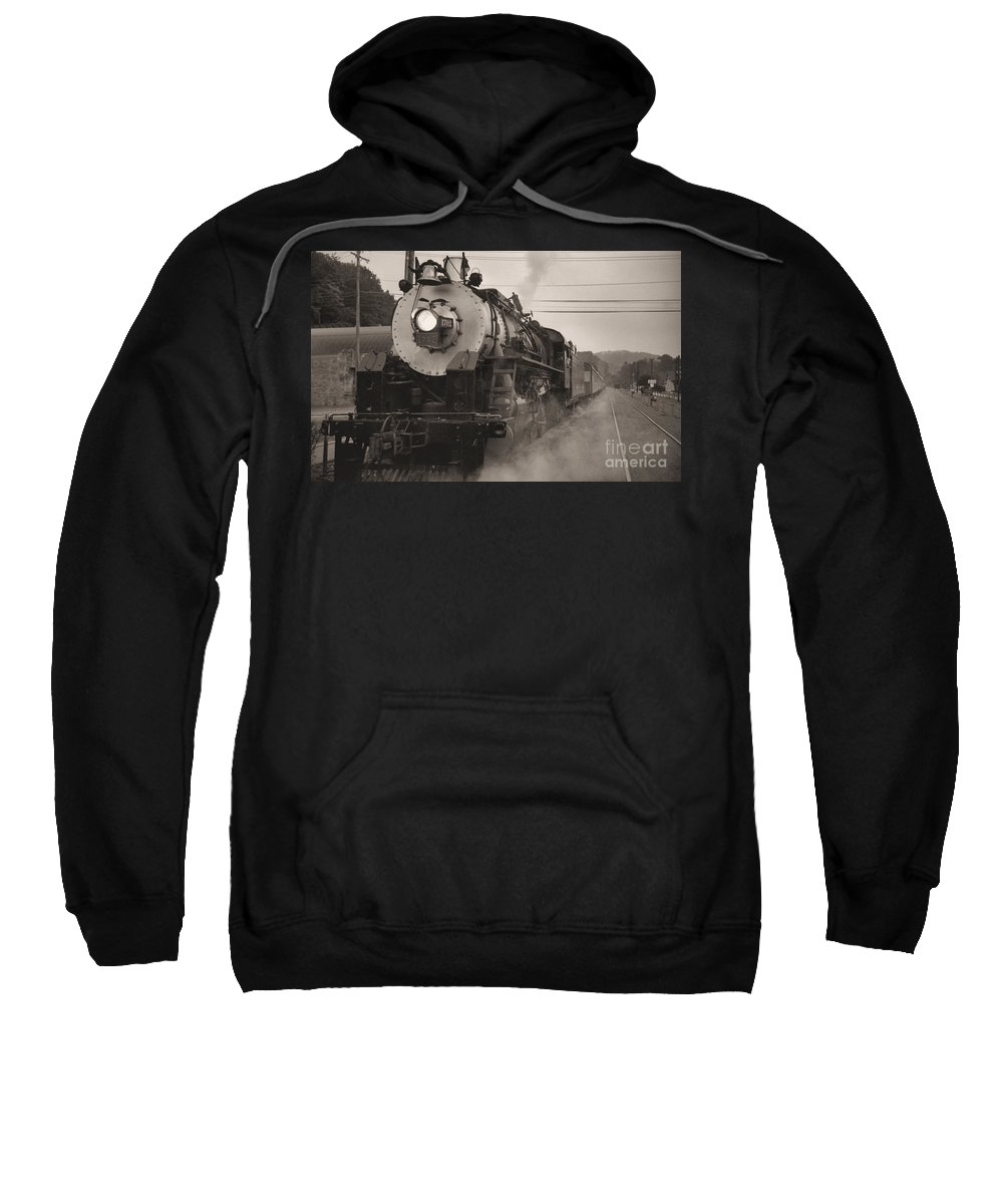 Trains Sweatshirt featuring the photograph The 1702 At Dillsboro by Richard Rizzo