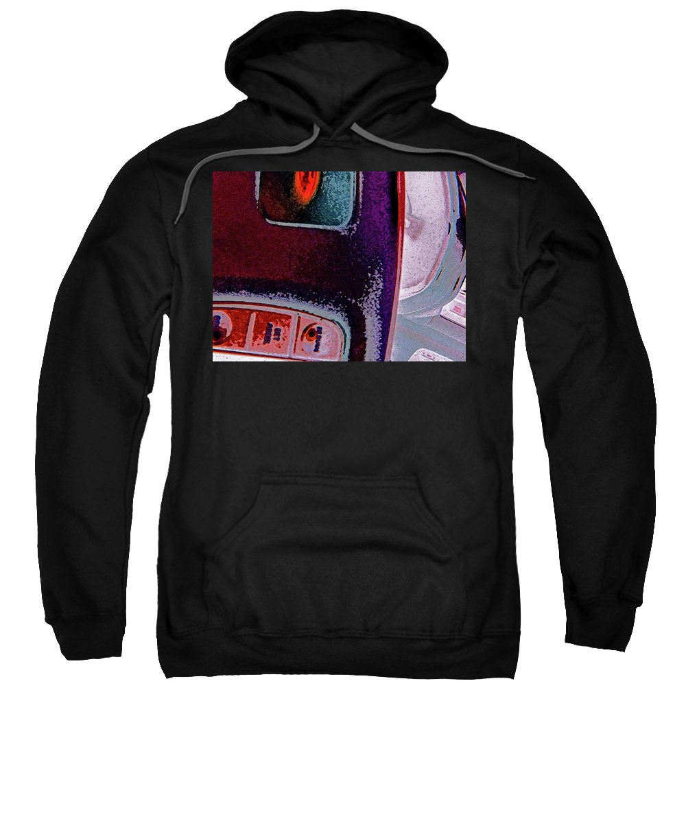 Abstract Sweatshirt featuring the digital art The Accidental Abstract 2 by Lenore Senior