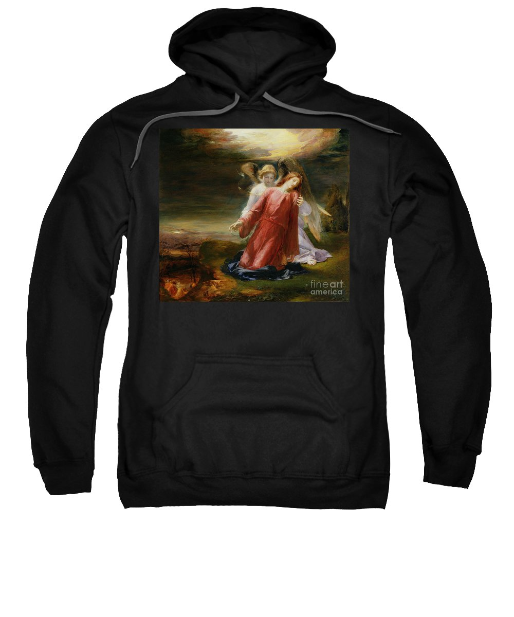 Xyc129331 Sweatshirt featuring the photograph The Agony In The Garden by George Richmond