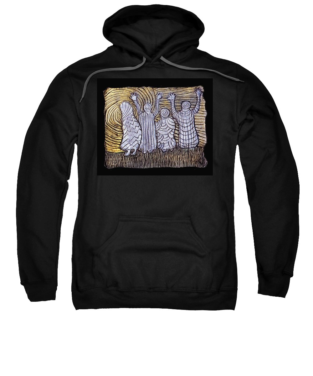 Spirits Sweatshirt featuring the painting The Ancients by Wayne Potrafka