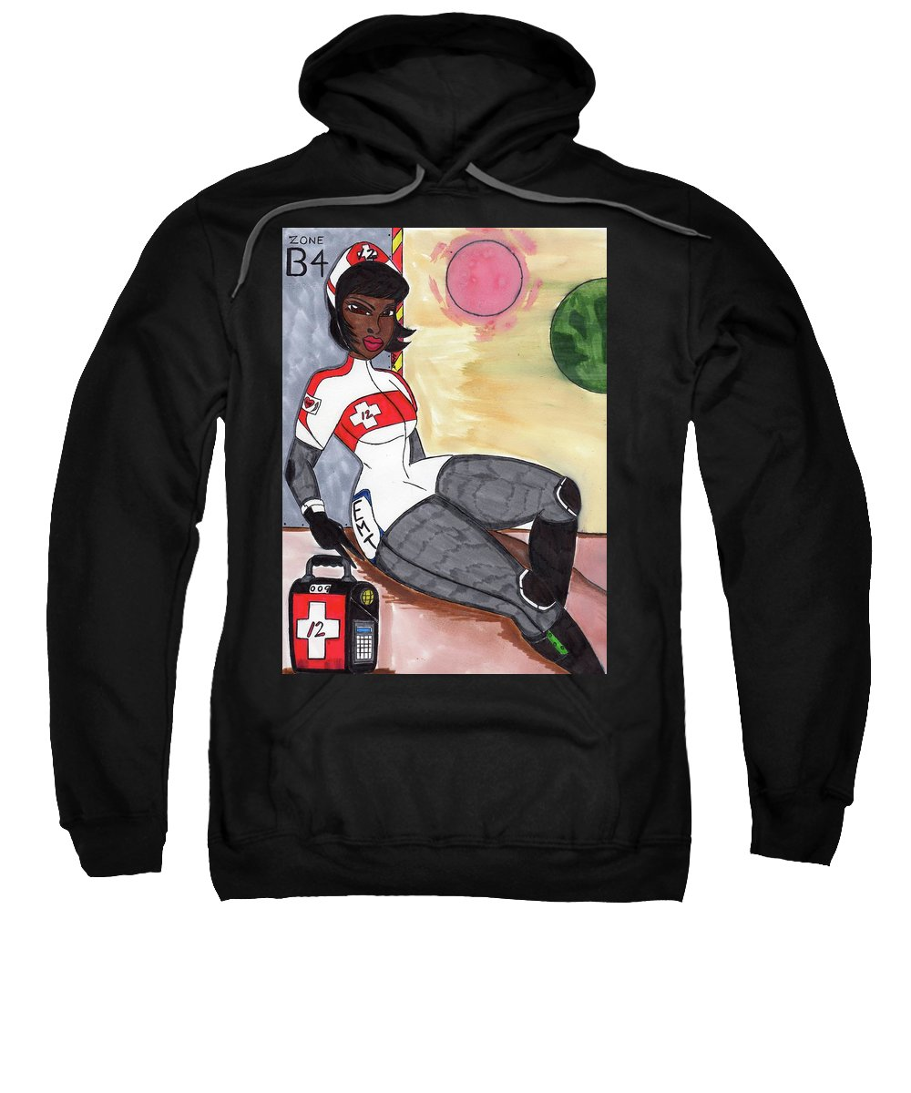 Original Character Sweatshirt featuring the mixed media The Angel Of Crimea Iv by Ronald Woods