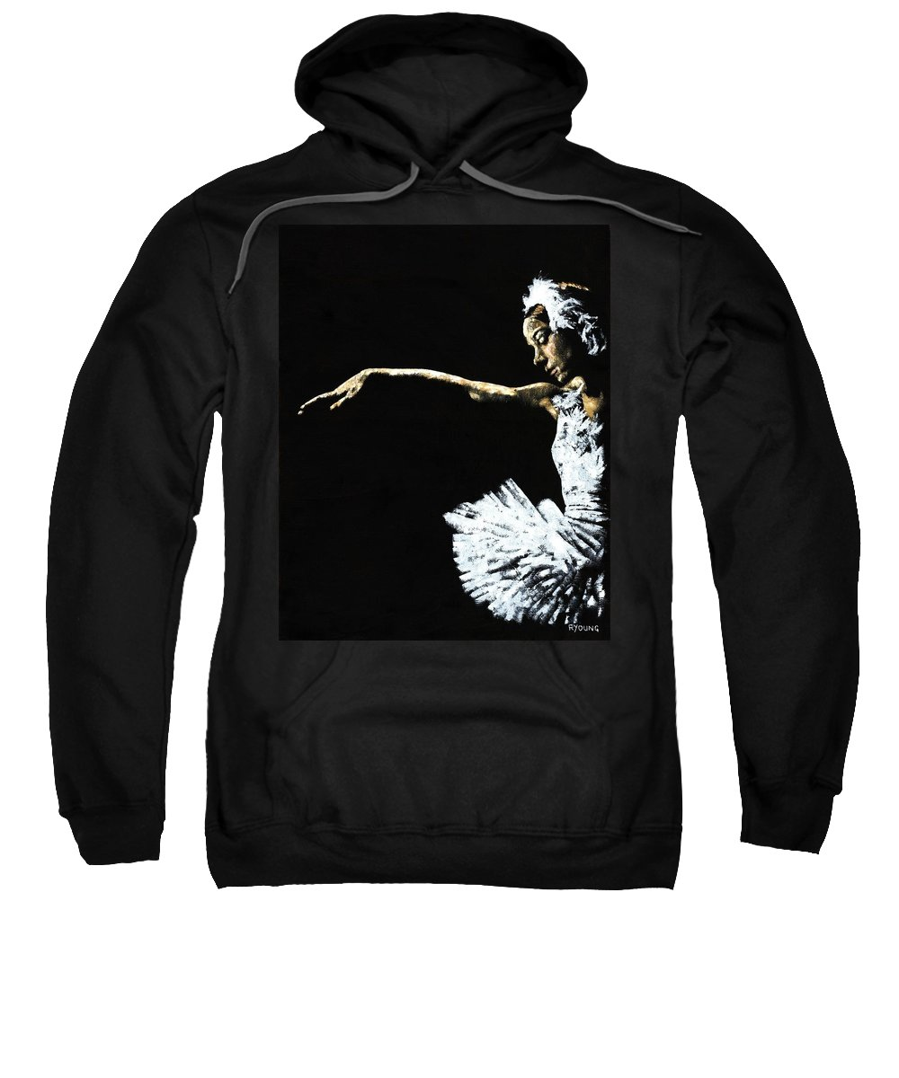Ballet Sweatshirt featuring the painting The Art Of Grace by Richard Young